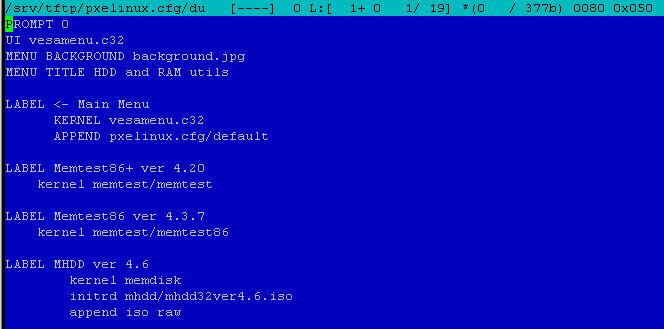 Как установить загрузочный PXE сервер для установки Windows, Linux, ESXI 5.5-9 часть. Добавляем MHDD 4.6-04