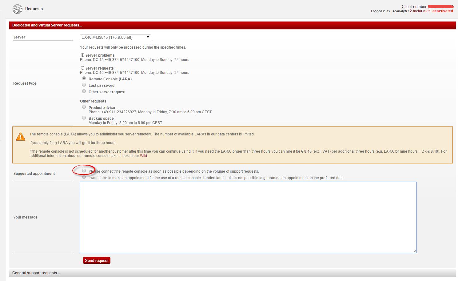 Как в цоде hetzner заказать kvm к вашему физическому серверу-02