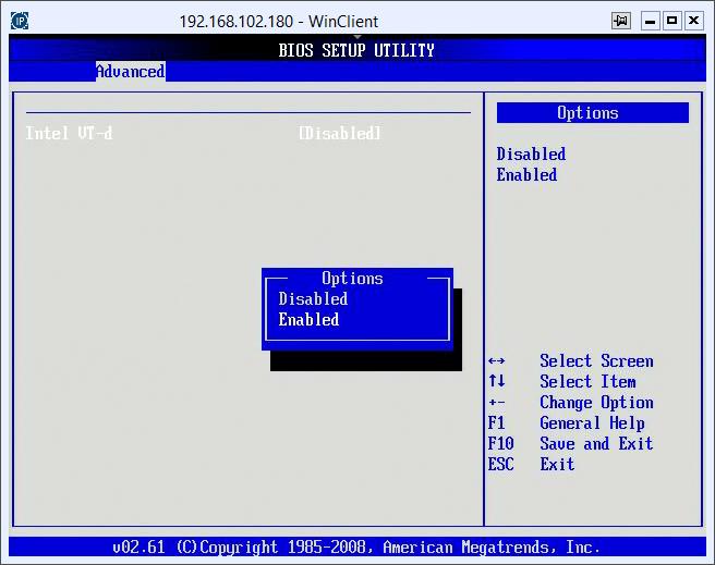Как включить поддержку виртуализации на серверах Aquarius Server T50 D68 с материнской платой Asus Z8NR-D12-02