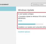 Ошибка Невозможно завершить процесс установки обновлений. Отмена изменений при установке обновления KB3081438, зависание на 75 процентах и перезагрузка в Windows 10