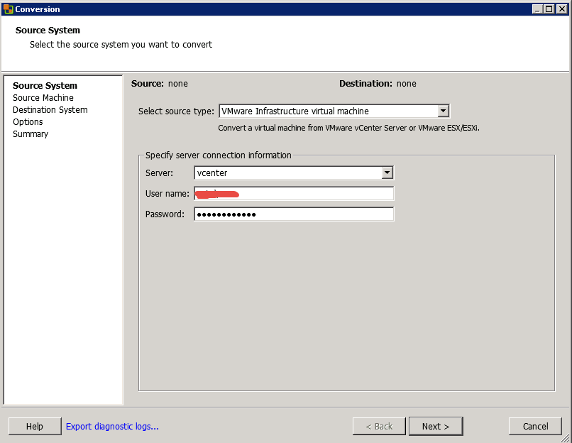 Как мигрировать виртуальную машину на VMware Vcenter 5.5 с сжатием диска и сменой толстого на тонкий формат-05