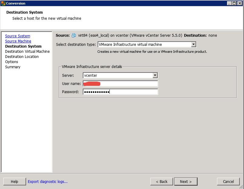 Как мигрировать виртуальную машину на VMware Vcenter 5.5 с сжатием диска и сменой толстого на тонкий формат-07