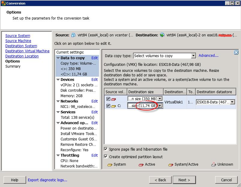 Как мигрировать виртуальную машину на VMware Vcenter 5.5 с сжатием диска и сменой толстого на тонкий формат-12