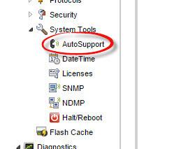 Как настроить AutoSupport на fas2240-02