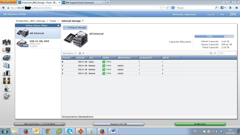 Как настроить IBM Storwize v3700-07