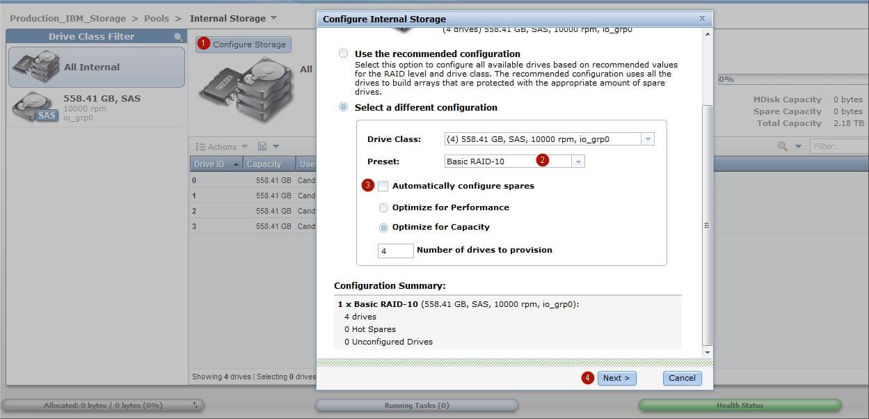 Как настроить IBM Storwize v3700-10