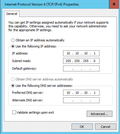 Как настроить статический ip адрес в Windows Server 2016 Technical Preview 3-07