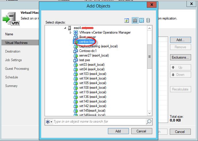 Как реплицировать виртуальную машину в Veeam Backup & Replication 7-05