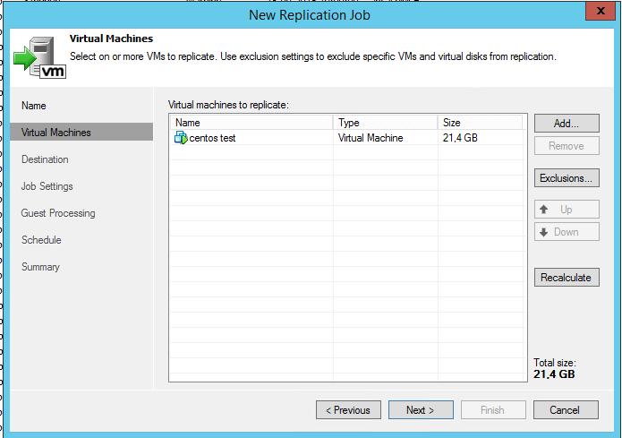Как реплицировать виртуальную машину в Veeam Backup & Replication 7-06