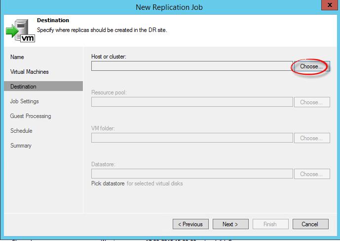 Как реплицировать виртуальную машину в Veeam Backup & Replication 7-07