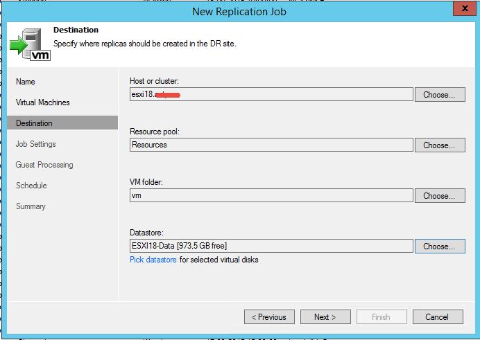 Как реплицировать виртуальную машину в Veeam Backup & Replication 7-08