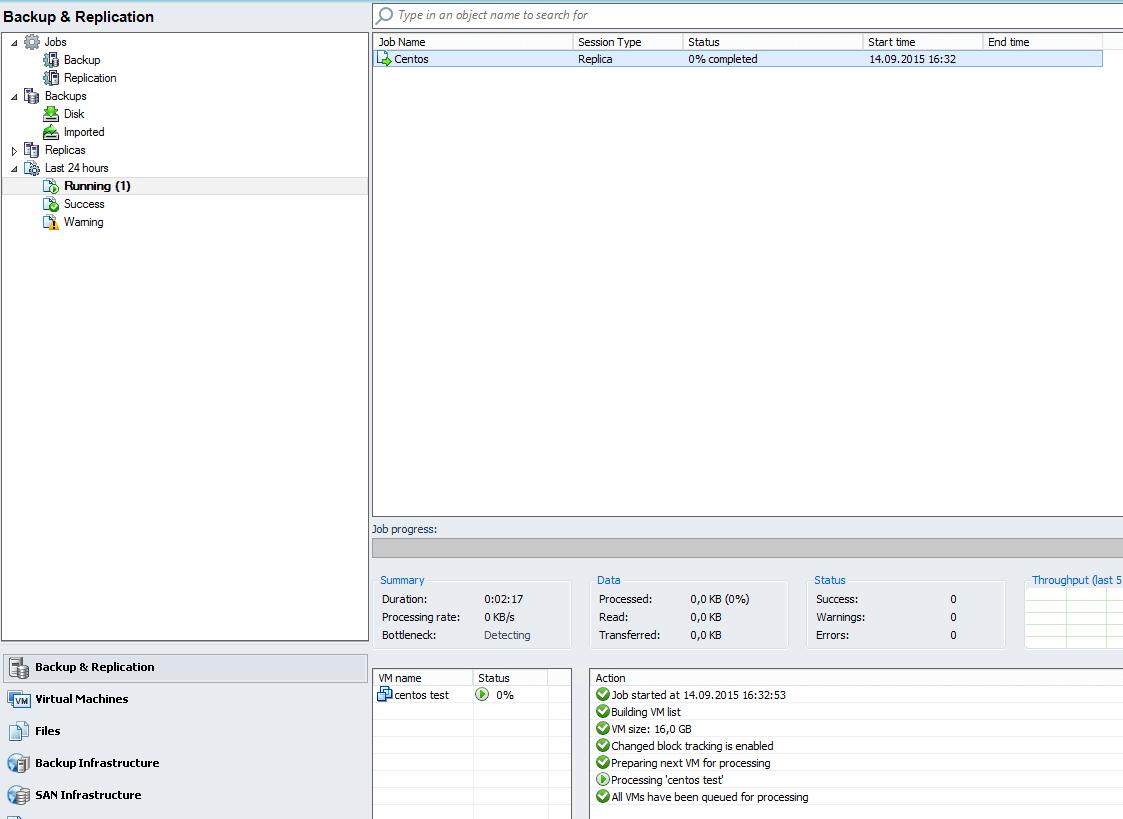 Как реплицировать виртуальную машину в Veeam Backup & Replication 7-14