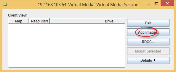 Как смонтировать iso в Virtual Media CDROM на сервере IBM System x3650 M3-08