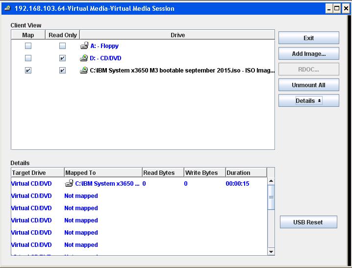 Как смонтировать iso в Virtual Media CDROM на сервере IBM System x3650 M3-12