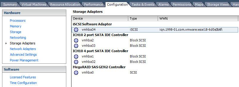 Как создать и подключить ISCSI диск из Windows Server 2008 R2 в VMware ESXI 5.5-09