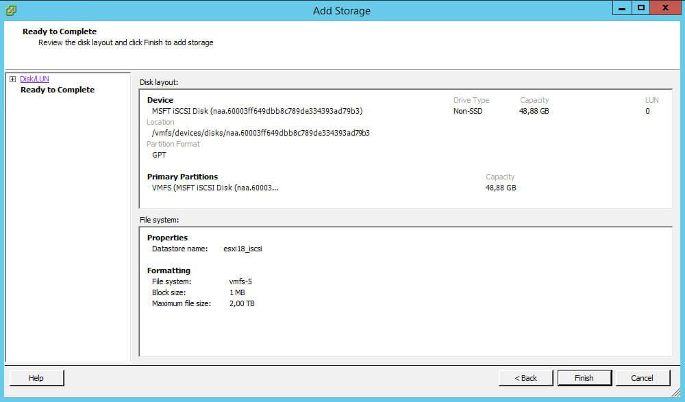 Как создать и подключить ISCSI диск из Windows Server 2008 R2 в VMware ESXI 5.5-41
