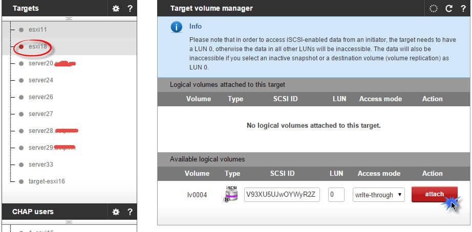 Как создать и подключить ISCSI диск с Open-e 7 в VMware ESXI 5.5-08