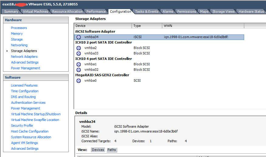 Как создать и подключить ISCSI диск с Open-e 7 в VMware ESXI 5.5-11