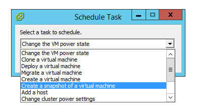 Как создать snapshot виртуальной машины по расписанию в VMware vCenter 5.5-03