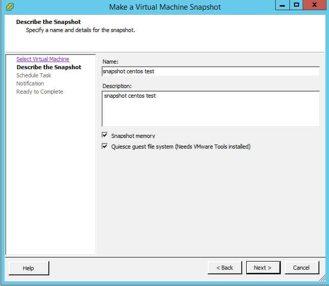 Как создать snapshot виртуальной машины по расписанию в VMware vCenter 5.5-05