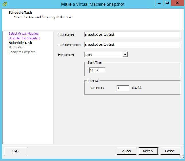 Как создать snapshot виртуальной машины по расписанию в VMware vCenter 5.5-07
