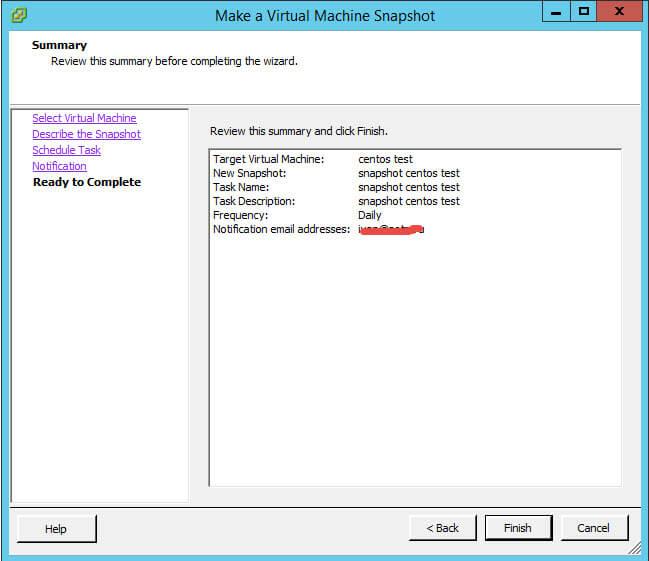 Как создать snapshot виртуальной машины по расписанию в VMware vCenter 5.5-09
