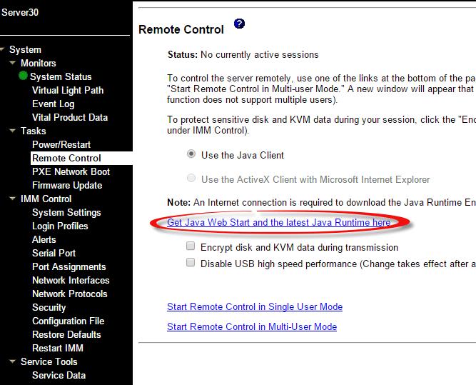 Как установить IBM Virtual Media Key в IBM System x3650 M3-05