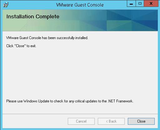 Как установить VMware Guest Console 1.1.0-05