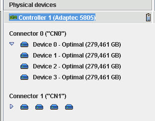 Как узнать smart дисков на RAID контроллере Adaptec-06