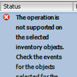 Ошибка The operation is not supported on the selected Inventory objects. Check the events for the objects selected for the operation При обновлении ESXI 5.5 хоста