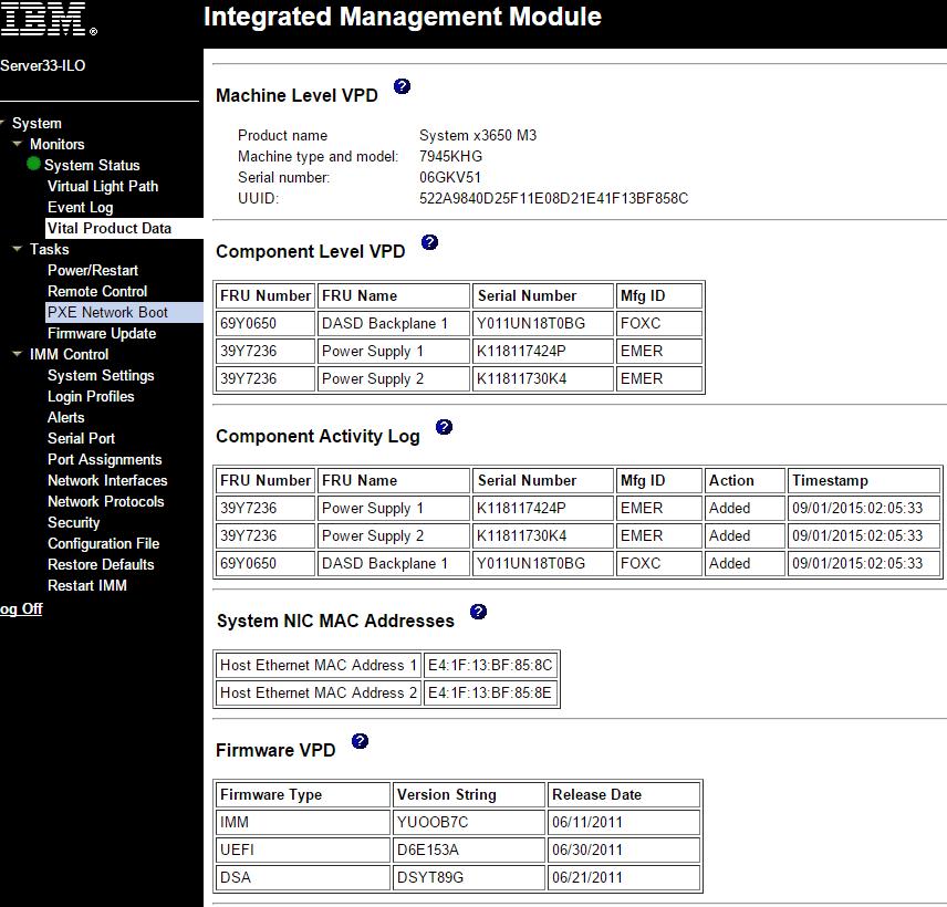FRU IBM