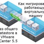 Как мигрировать работающую виртуальную машину без общего datastore в VMware vCenter 5.5