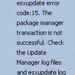 Ошибка The host returns esxupdate error code:15 при попытке обновить ESXI 5.5 хост через Update Manager