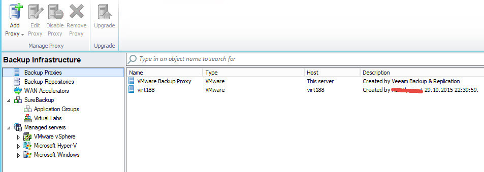Vmware backup proxy