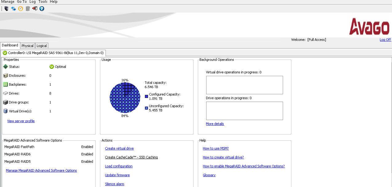 Как подружить HP ProLiant DL380 G7 и LSI 9361 8i-2
