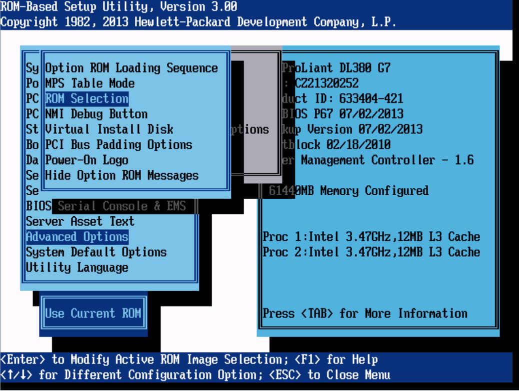Как восстановить резервную копию BIOS на сервере HP ProLiant DL380 G7-15