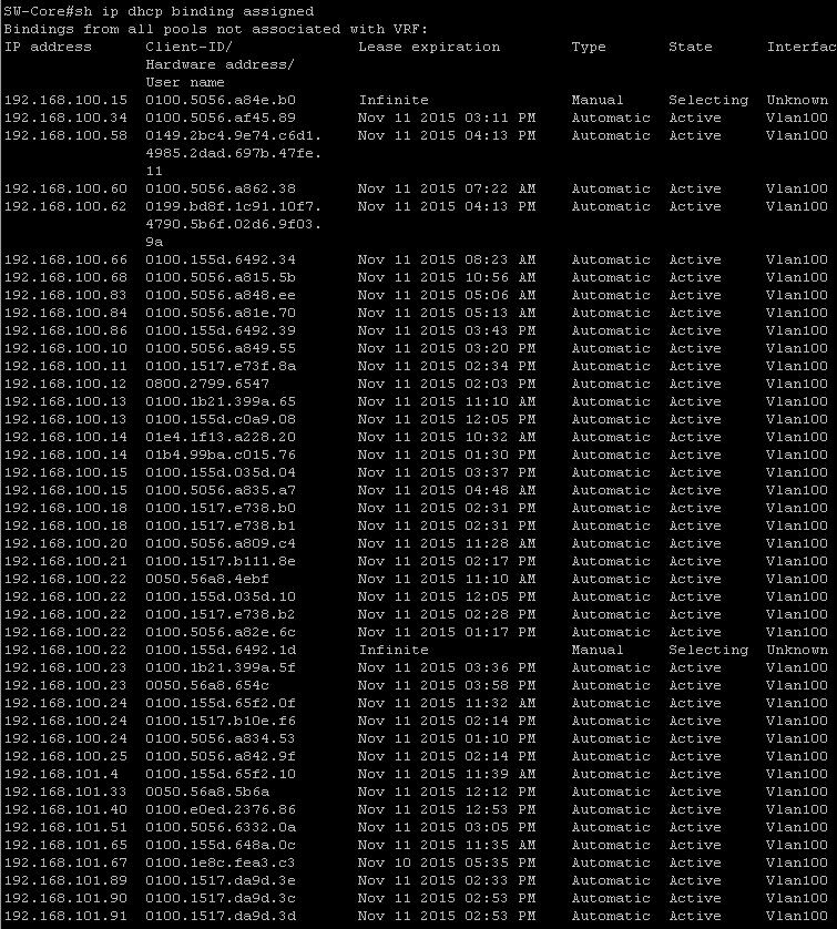 Полезные команды cisco dhcp-02