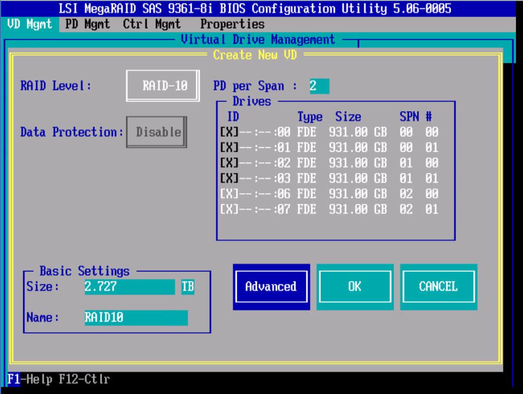 RAID-10 LSI 9381 8i
