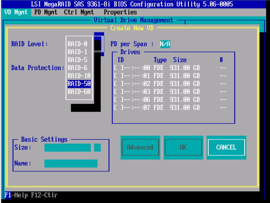 RAID-50 LSI 9381 8i-18