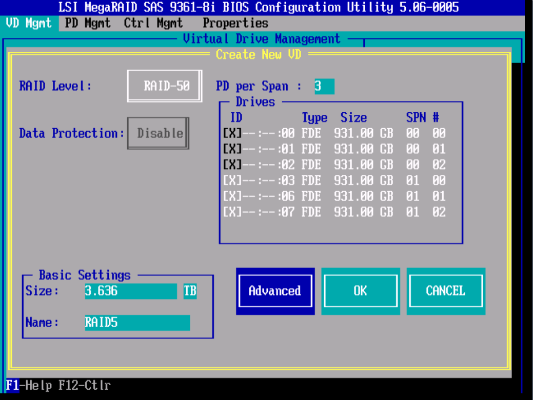 RAID-50 LSI 9381 8i-19