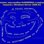 Синий экран: код ошибки 0x000000d1 в виртуальной машине с Windows Server 2008 R2
