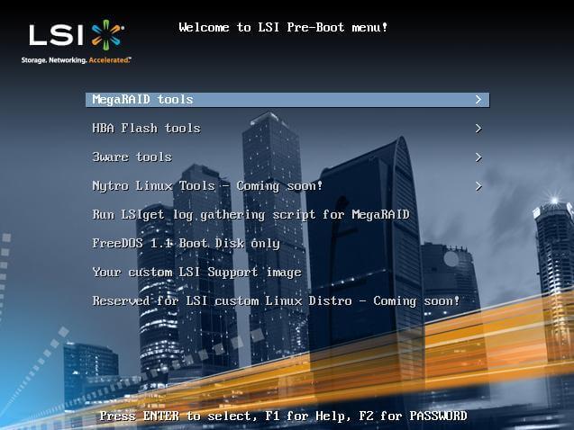 Скачать LSI PreBoot CD-01