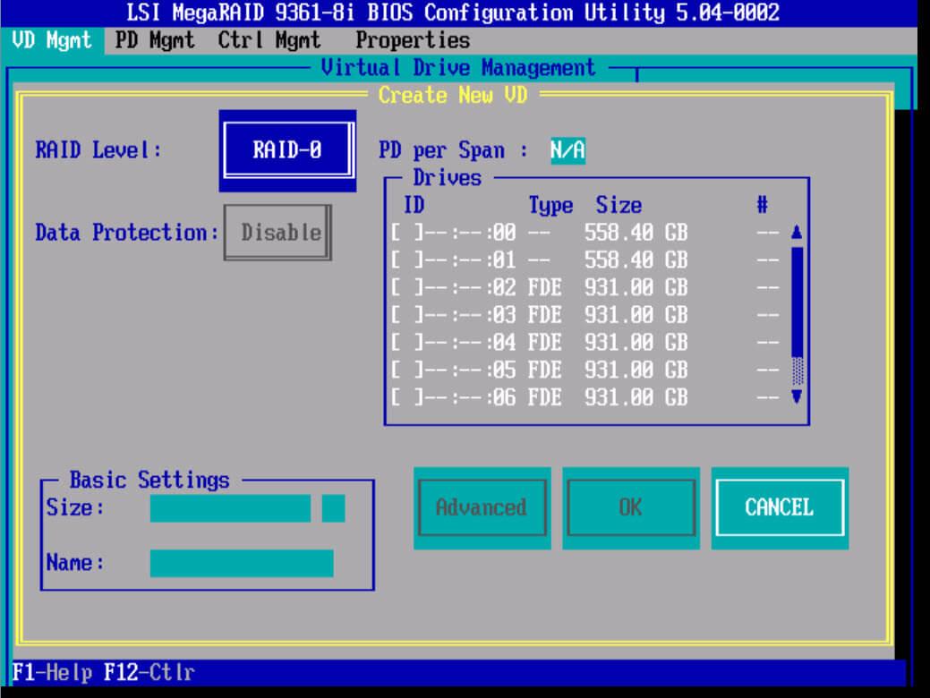 Создание RAID на LSI 9361 8i-01