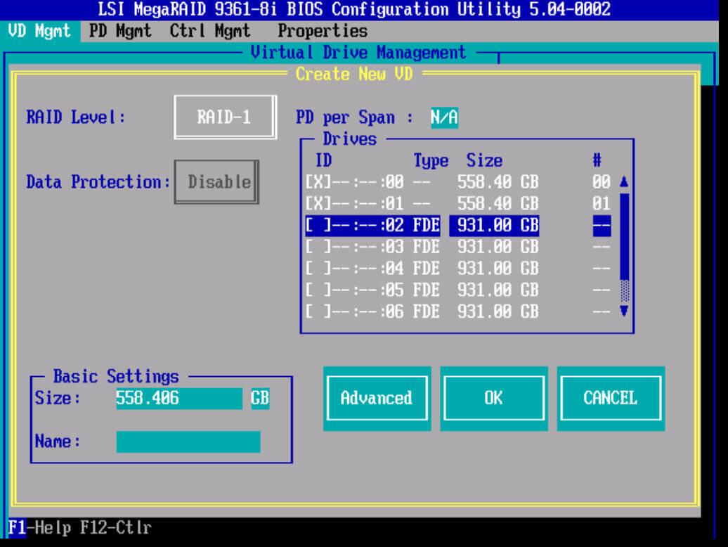 Создание RAID на LSI 9361 8i-03