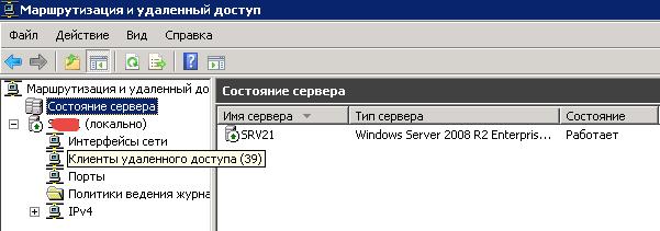 число пользователей подключенных к VPN