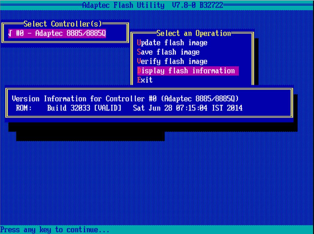 обновить BIOS Adaptec