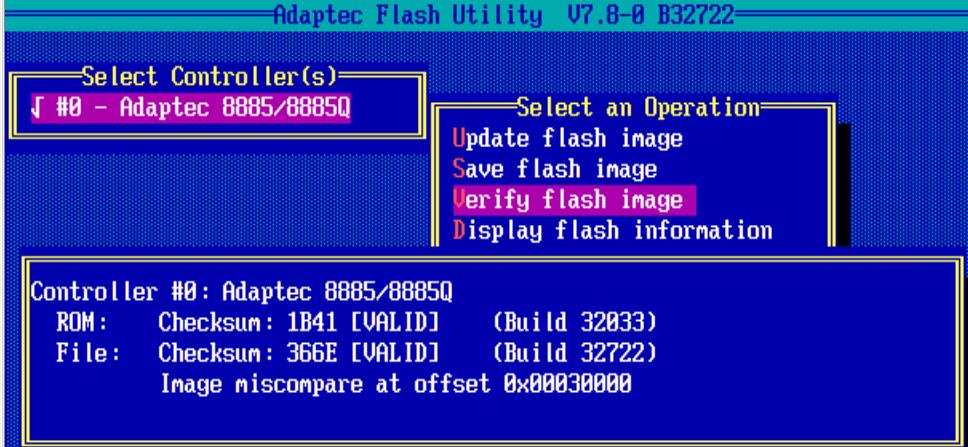 проверка firmware adaptec