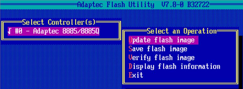 Как обновить BIOS у Adaptec-10