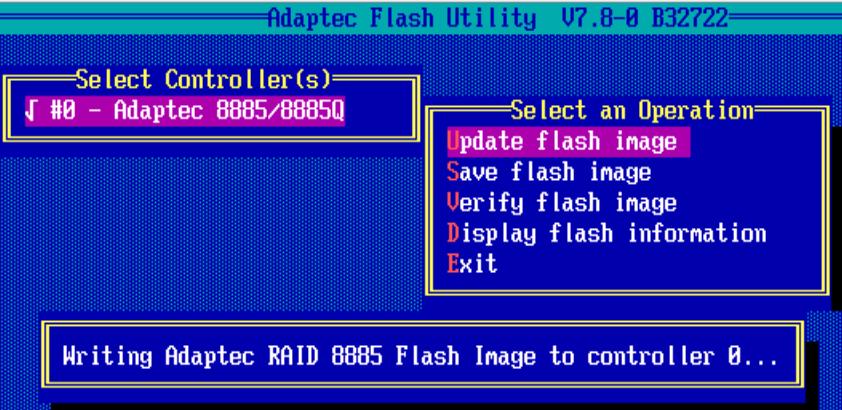 Как обновить BIOS у Adaptec-14
