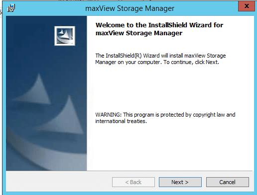 установка maxView Storage Manager